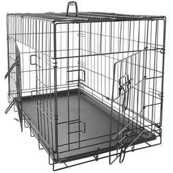 OxGord Double-Door Easy Folding Metal Wire Pet Kennel Crate