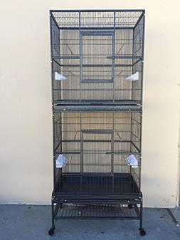 Mcage New Double Durable Stackable Extra Large Cage 3 Levels