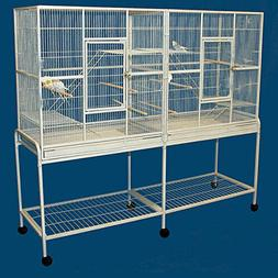 LARGE Double Flight Wrought Iron Cage Cockatiel Ferret Sugar