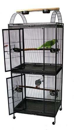 "Extra Large Double Stackable Decker Bird Cage - 30"" X 24"" X"