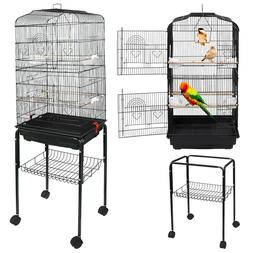 59''H Rooling Bird Cage Cockatiel Parakeet Finch Canary Home
