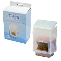 Economy Feeder Dispenser Bird Cage Seed Water Food Clear Pla