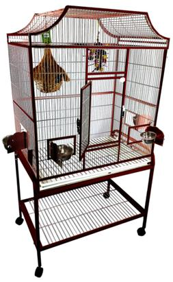 A&E Cage Co. 32' x 21' x 61' Elegant Flight Cage, Burgundy
