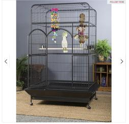 Empire Macaw Bird Cage Metal Black Parrot Prevue Pet Product