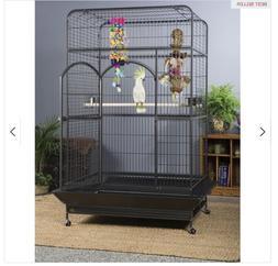 Empire Macaw Bird Cage Metal Black Parrot Prevue Pet Product