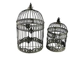 Benzara ETD-EN15056 Artistic Bird Cage Metal Candle Holder,