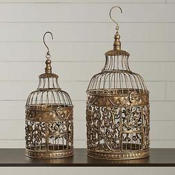 August Grove Ettie 2 Piece Decorative Metal Bird Cage Set