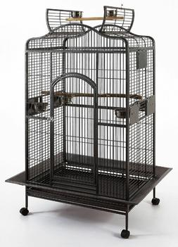 Extra Large Open Play Top Bird Parrot Cage Cockatiel Macaw C