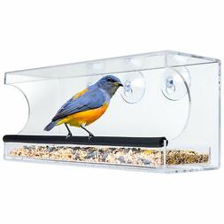Best Choice Products Extra Wide Acrylic Window Bird Feeder w