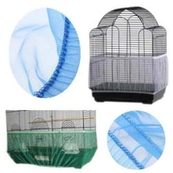 Fabric Mesh Bird Cage Cover Shell Skirt Seed Catcher Guard C