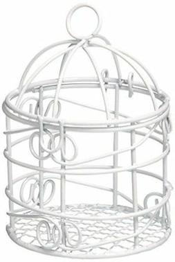 Firefly Imports FCF001512WHT Mini Metal Wire Bird Cages, Whi