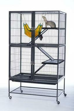 "Feisty Ferret Home Four-Level Small Animal Cage 41.5""H with"