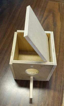 North American Pet Finch Nesting Box - Inside and Outside Mo