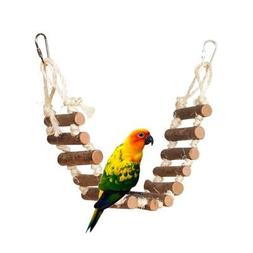 Flexible Naturals Rope Ladder Bird Toy Bridge Swing for Parr
