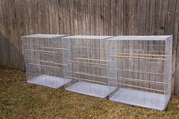 "FLIGHT CAGE 30*18*36"" WHITE  birdcages  bird flight cages"