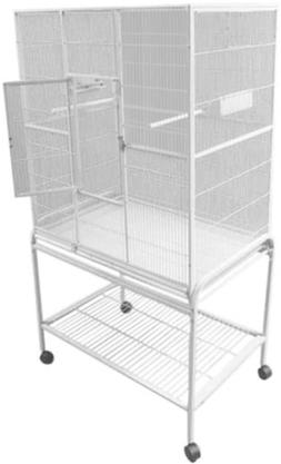 A&E Cage Co. 32-Inch by 21-Inch Flight Cage and Stand, Plati