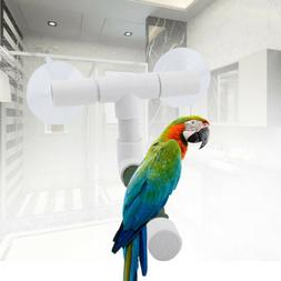 Foldable Parrot Shower Perch Stand With Suction Cup for Parr