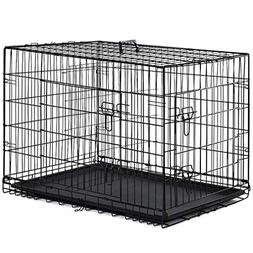 """New Extra Large 48"""" Folding Pet Dog Cat Crate Cage Kennel Wi"""