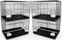 Lot of Four Medium Bird Cage, Black