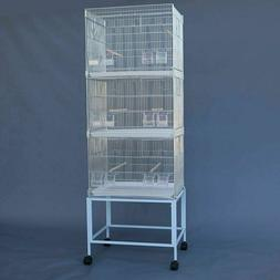 Galvanised Breeding Bird Cages on Stand for Canary Parakeet