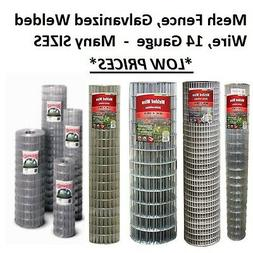 Galvanized Welded Wire Mesh Cage Fence, 14 Gauge - MANY SIZE