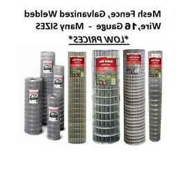 Galvanized Welded Wire Mesh Cage Fence, 16 Gauge - Many Size