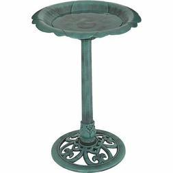 Best Garden Flower Pedestal Bird Bath