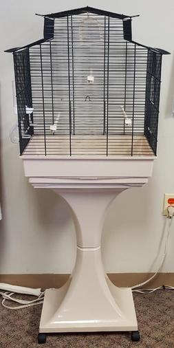 GIADA BIRD CAGE #DM 1100283 BIRD CAGE ON STAND WITH WHEELS