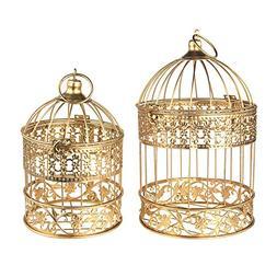 Homeford Gold Metal Wedding Bird Cage Centerpiece, Medium, 2