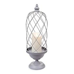 "Luminara 02425 - 6.5"" x 24"" Gray Bird Cage Candle Holder Wav"