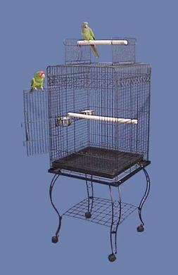 "Hana Hut Playtop Bird Cage with Stand - 20"" X 20"" X 57"" - Bl"