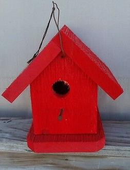 Hand Crafted Red Finch Birdhouse - Lancaster Cnty - PA