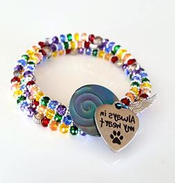 Handcrafted Rainbow Bridge Bracelet with Gift Box Pet Loss J