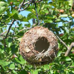 Handmade Birdhouse Bird Nest Breeding Box Wild Grass Canary