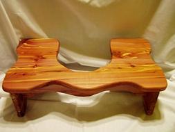 "Handmade Cedar Wood Potty Squat Stool / 7"" Tall / Bathroom T"