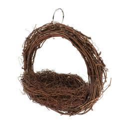 Handmade Natural Rattan Bird Nest Parrot Sleeping Bed House