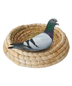 loveone Handwoven Straw Birds Nest Round Bottom Grass Pigeon
