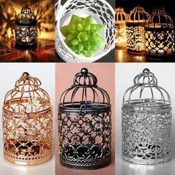 Hanging Bird Cage Candle Holder Retro Iron Candlestick Lante