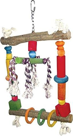 A&E CAGE COMPANY HB117 Happy beaks wood swing with Rope Asso