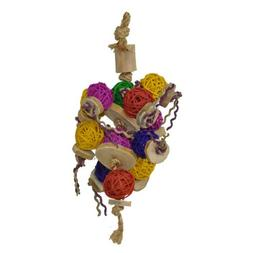 A&E CAGE COMPANY HB46540 Java Wood Ball Thing Assorted Bird