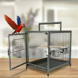 Heavy Duty Portable Travel Bird Parrot Carrier Cage Play Sta