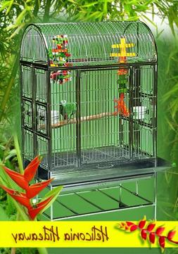 Heliconia Hideaway Stainless Steel Large Bird Cage - Perfect