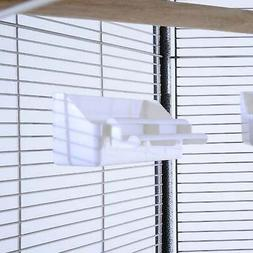 44L Hexagonal Aviary Bird Flight Cage - Gray/White