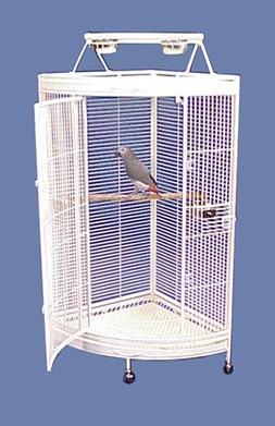 BirdCages4Less Honolulu Hideaway Playtop Corner Parrot Cage
