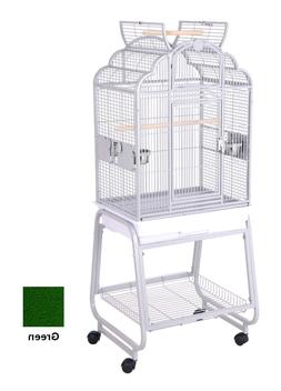 HQ Bird Cages Victorian With Cart Stand 22x17 Green