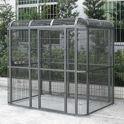 Huge Walk-in Bird Aviary Cage Parrot Macaw Reptile Dog 79Hx8