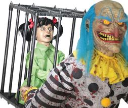 *IN STOCK* HALLOWEEN ANIMATED LIFE SIZE MR HAPPY CLOWN CAGED