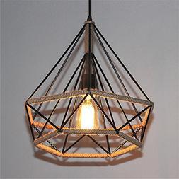 Industrial Pendant Light Retro Industrial Diamond Heated Cha