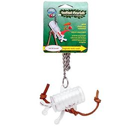 Nature's Instinct Barrel of Fun Clear Bird Toy