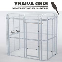 Iron Wire Bird Flight Cage Large Walk In Aviary Parrot Cocka